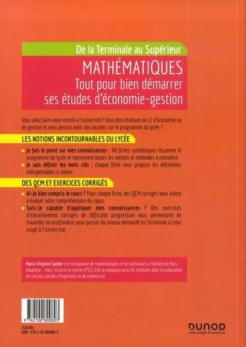 Mathématiques de la Terminale au Supérieur. Tout pour bien démarrer ses études d'économie-gestion