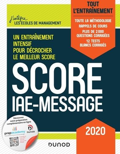 Marie-Virginie Speller et Sophie Gallix - Score IAE-Message - 2020 - Tout l'entraînement.