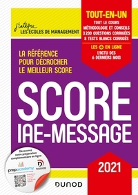 Marie-Virginie Speller et Benoît Priet - Score IAE-Message - 2021 - Tout-en-un.