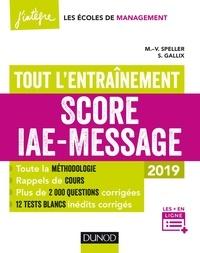 Marie-Virginie Speller et Sophie Gallix - Score IAE-Message - Tout l'entraînement - 2019.