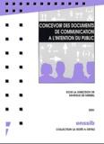 Marielle de Miribel et  Collectif - Concevoir des documents de communication à l'intention du public.