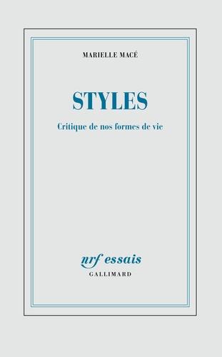 Styles. Critique de nos formes de vie