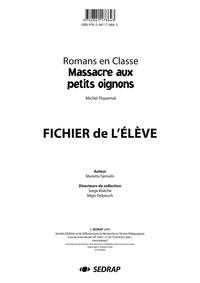 Mariette Semelin - Massacre aux petits oignons, Michel Piquemal - Fichier de l'élève.