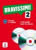 Marilisa Birello - Italien 2e année Bravissimi! 2 A2. 2 CD audio