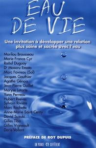 Marilou Brousseau et Marie-France Cyr - Eau de vie - Une invitation à développer une relation plus saine et sacrée avec l'eau.
