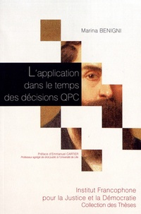 Marina Benigni - L'application dans le temps des décisions QPC.