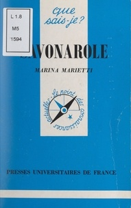 Marina Marietti et Paul Angoulvent - Savonarole.