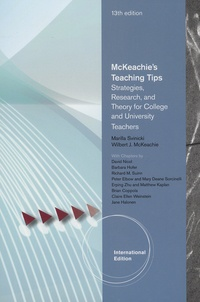 Marina Svinivki et Wilbert-J McKeachie - McKeachie's Teaching Tips - Strategies, Research, and Theory for College and University Teachers.