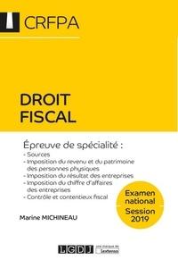 Droit fiscal CRFPA- Examen national - Marine Michineau pdf epub
