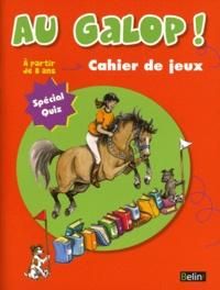 Marine Oussedik - Au galop ! - Cahier de jeux à partir de 8 ans.