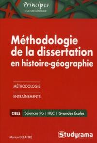 Marion Delattre - Méthodologie de la dissertation en histoire-géographoe Sciences Po/HEC.