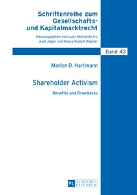 Marion Hartmann - Shareholder Activism - Benefits and Drawbacks.