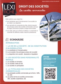 Marion Heusèle et Dimitri Galakhoff - Droit des sociétés - Les sociétés commerciales.