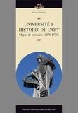 Marion Lagrange - Université & histoire de l'art - Objets de mémoire (1870-1970).