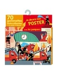 Marion Piffaretti - Je décore mon poster avec les pompiers - 70 gommettes autocollantes + un poster à décorer.