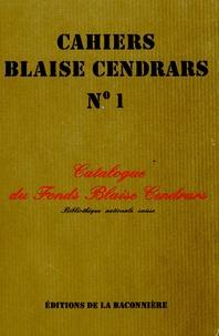 Histoiresdenlire.be Catalogue du fonds Blaise Cendrars de la Bibliothèque nationale suisse Image