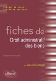 Marjolaine Monot-Fouletier - Fiches de droit administratif des biens - Rappels de cours et exercices corrigés.