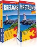 Marjolaine Petit - Bretagne - Guide + atlas + carte routière et touristique 1/300 000.