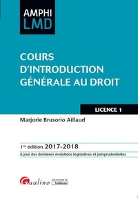 Marjorie Brusorio - Cours d'introduction générale au droit.