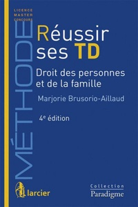 Deedr.fr Réussir ses TD, Droit des personnes et de la famille Image