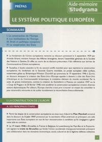 Marjorie Champetier - Le système politique européen.