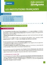Marjorie Champetier - Les institutions françaises.
