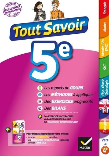 Tout Savoir 5e Avec Le Guide Des Parents Detachable