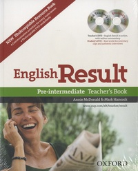 Mark Hancock - English Result - Pre Intermediate - Teacher's Resource Pack with photocopiable resource book. 2 DVD