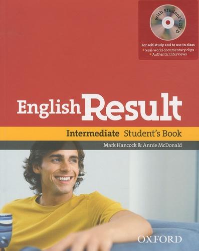 Mark Hancock et Annie McDonald - English Result - Intermediate Student's Book. 1 DVD