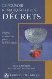 Mark Prophet et Elizabeth Clare Prophet - Le pouvoir remarquable des décrets - Prières et mantras pour le XXIe siècle.