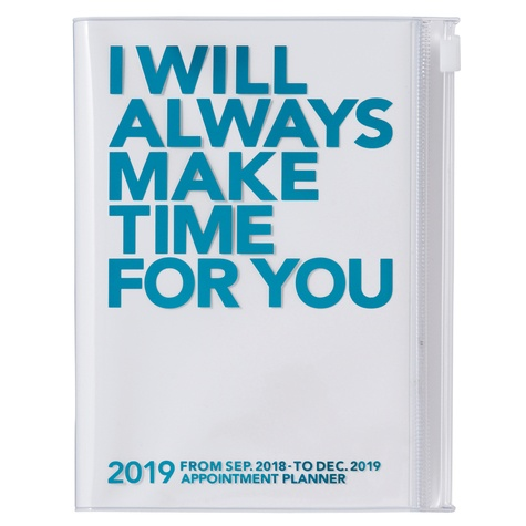 MARK'S - Agenda semainier Clear Storage Turquoise A5 2018-2019