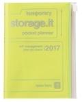 MARK'S - Agenda semainier Storage.it 2016-2017 - A6 - Metallic jaune