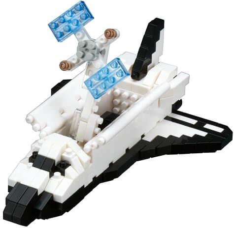 Boîte Nanoblock Navette spatiale en orbite