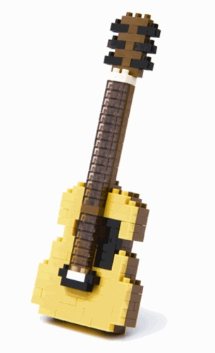 sachet nanoblock guitare accoustique