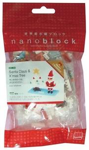 MARK'S - Sachet Nanoblock Père Noël et Sapin blanc