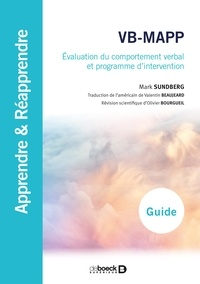 Mark Sundberg - VB-MAPP - Evaluation du comportement verbal et programme d'intervention.