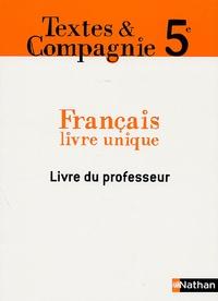Marlène Guillou et Philippe Lehu - Français 5e - Livre du professeur.