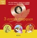 Marlène Jobert - 3 contes magiques - Coffret en 3 volumes : Jacques et le haricot magique ; La Belle et la Bête ; Aladin et la lampe merveilleuse. 1 CD audio