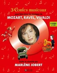Marlène Jobert et Emily Walker - 3 contes musicaux pour faire aimer les musiques de Mozart, Ravel, Vivaldi - En route pour les étoiles ; Pierre et la pluie magique ; Le Mystère de l'homme gorille. 1 CD audio