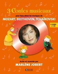 Marlène Jobert - Coffret 3 contes musicaux pour faire aimer les musiques de Mozart, Beethoven, Tchaïkovski - Claire Delune, une maîtresse extraordinaire ; L'arbre qui pleure ; Le petit garçon qui mordait les chiens. 1 CD audio