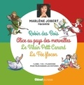 Marlène Jobert et  Atelier Philippe Harchy - Robin des Bois, Alice au pays des merveilles, Le Vilain Petit canard, La Fée Flocon. 1 CD audio
