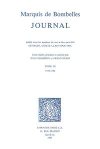 Marquis de Bombelles - Journal - Tome 3, 1789-1792.
