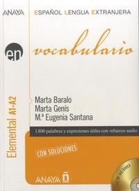 Marta Baralo - Vocabulario - Elemental A1-A2. 2 CD audio
