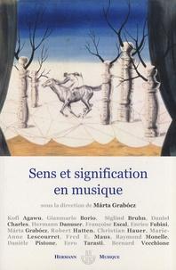Marta Grabocz - Sens et signification en musique.