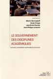 Martin Benninghoff et Cécile Crespy - Le gouvernement des disciplines académiques - Acteurs, dynamiques, instruments, échelles.