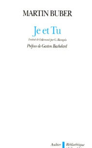 Martin Buber - JE ET TU.