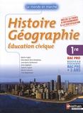 Martin Fugler et Anne-Marie Gérin-Grataloup - Histoire Géographie Education civique 1e Bac pro 3 ans.