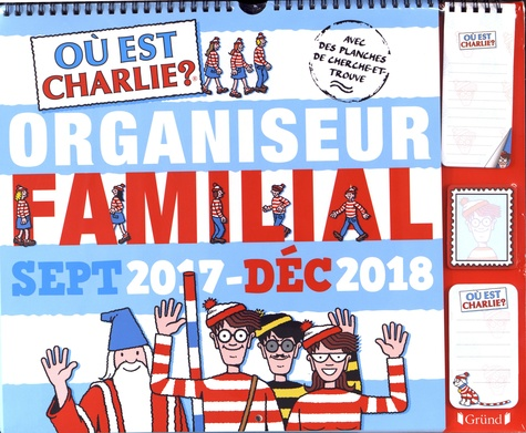 Ou Est Charlie Organiseur Familial Grand Format