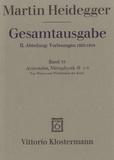 Martin Heidegger - Gesamtausgabe - Band 33, Aristoteles, Metaphysik Theta 1-3.