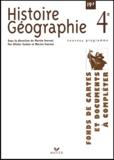 Martin Ivernel - Histoire Géographie 4ème. - Fonds de cartes et documents à compléter.